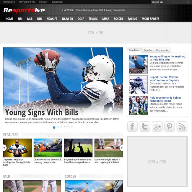 Resportsive - Sports News WordPress Theme | Best WordPress Themes 2017
