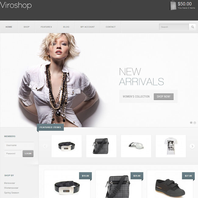Viroshop eCommerce WordPress Theme