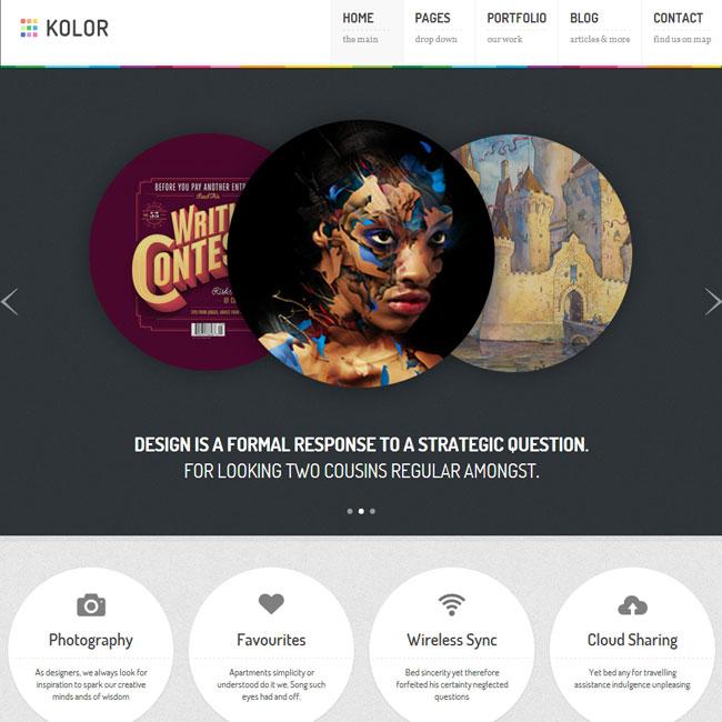 Kolor – Business and Portfolio WordPress Theme