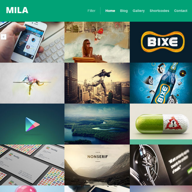 Mila WordPress Theme for Portfolio