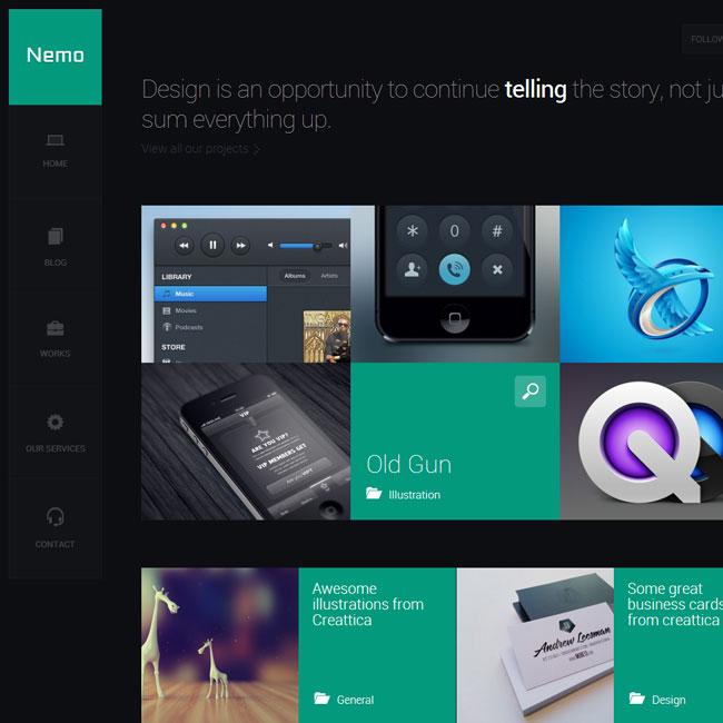 Nemo – A Metro Inspired WordPress Theme