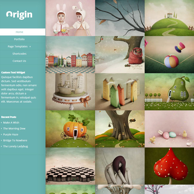 Origin Portfolio WordPress Theme by Elegant Themes
