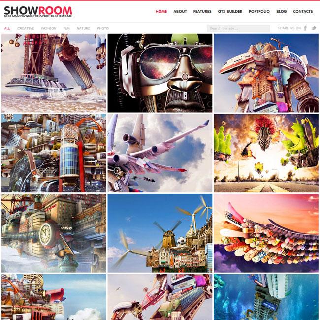 Showroom Portfolio WordPress Theme
