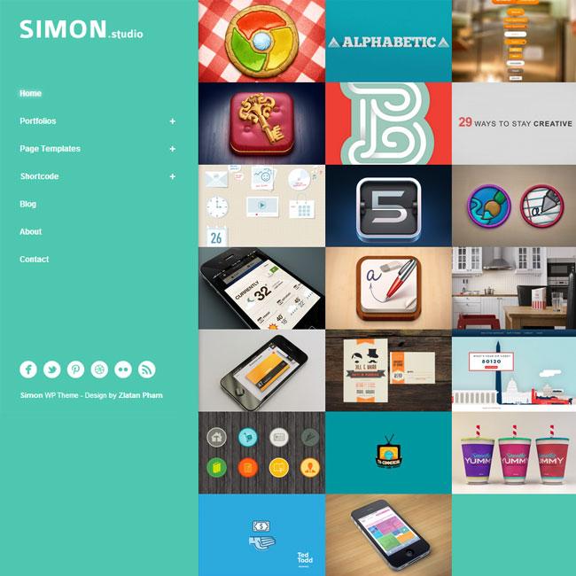 Simon WordPress Theme for Portfolio