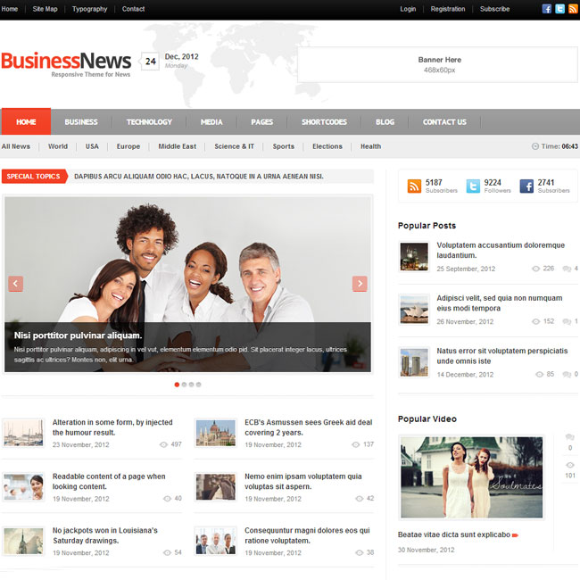 Business news wordpress theme best wordpress themes 2018 business news magazine wordpress theme cheaphphosting Images