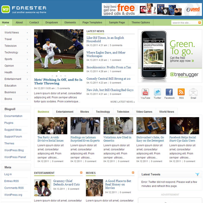 Forester WordPress Theme for Magazine