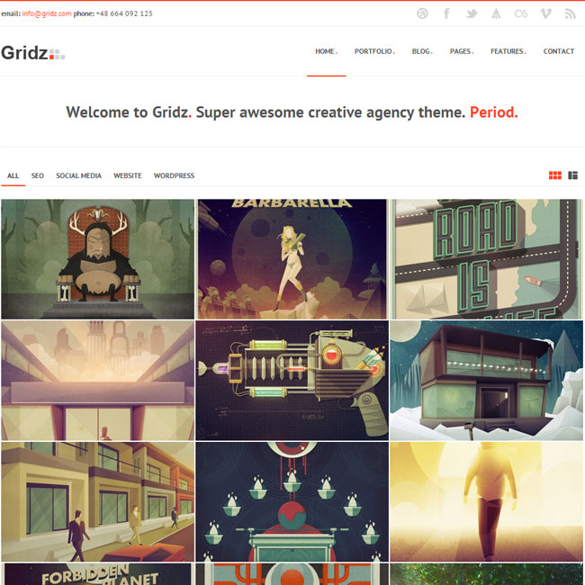 Gridz WordPress Theme for Agency