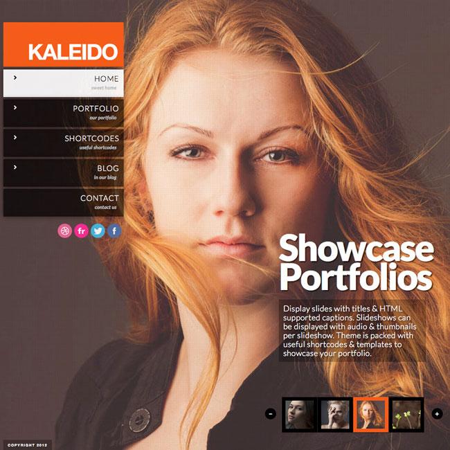 Kaleido Fullscreen Studio WordPress Theme