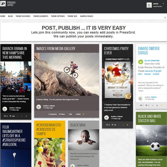 PressGrid Publishing & Multimedia WordPress Theme