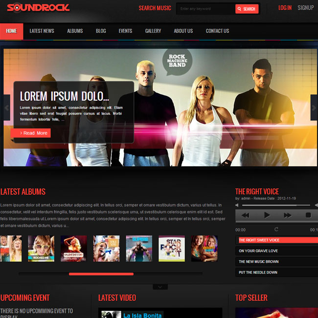 Sound Rock – WordPress Theme for Music Band