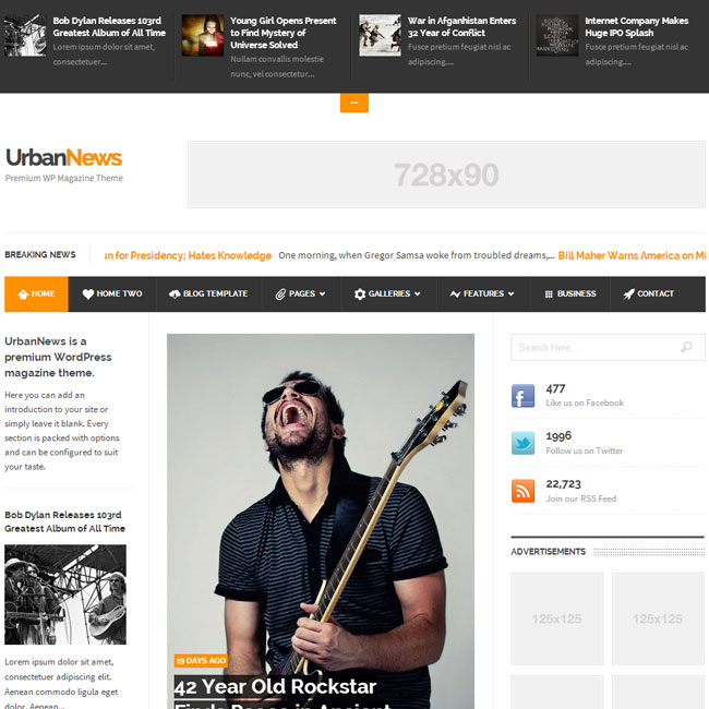 UrbanNews – Magazine WordPress Theme