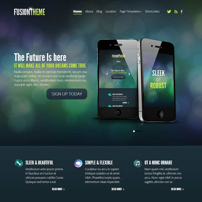 Fusion WordPress Theme by Elegant Themes
