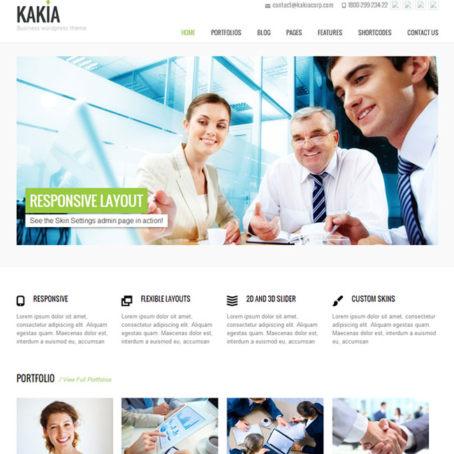 Kakia WordPress Theme for MultiPurpose Sites
