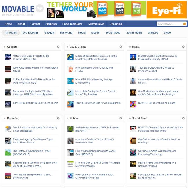 Movable – Magazine WordPress Theme