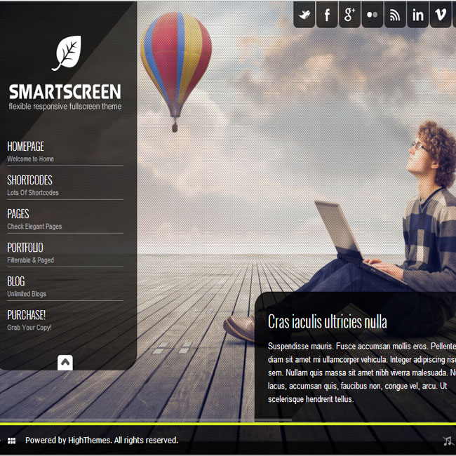 SmartScreen FullScreen WordPress Theme