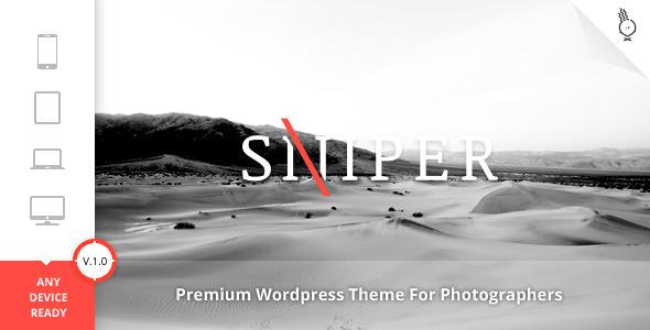 Sniper - Photography WordPress Theme