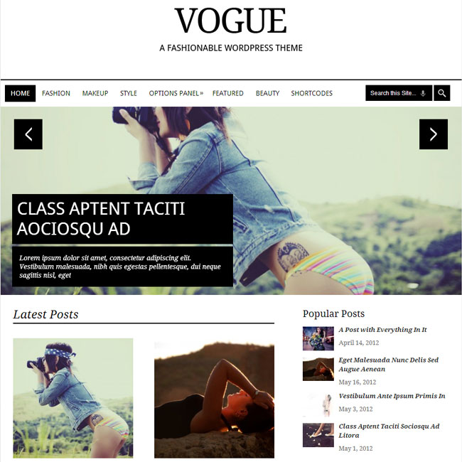 Vogue – WordPress Theme for News/Magazine