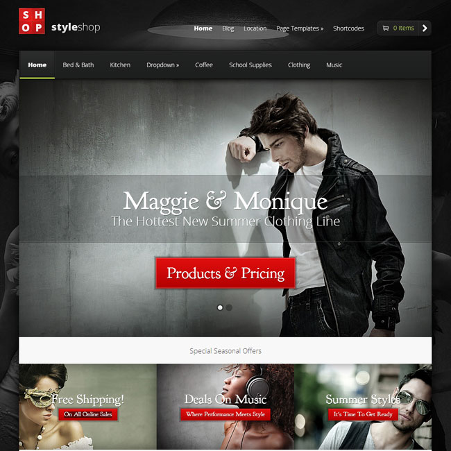 StyleShop WordPress Theme by Elegant Themes
