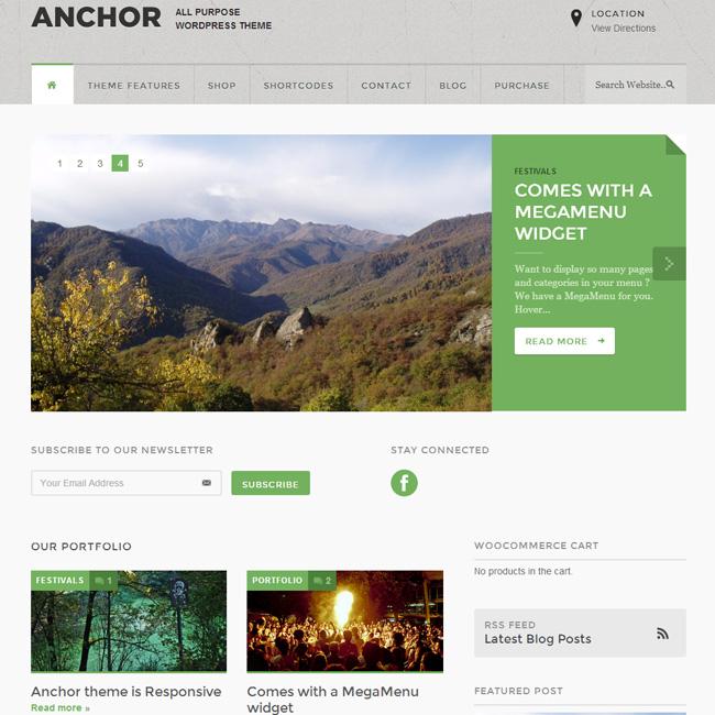 Anchor Responsive Magazine WordPress Theme