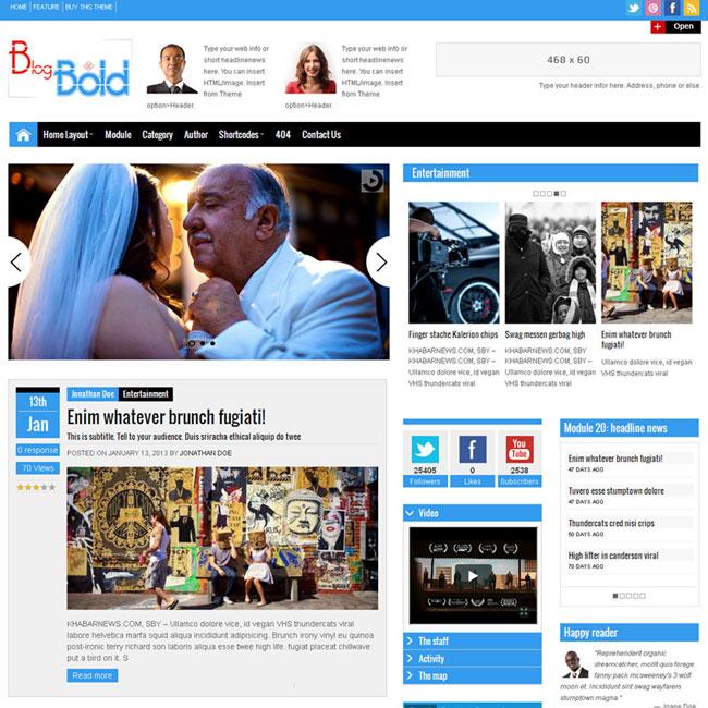 Blogbold Metro Blogmagnews WordPress Theme