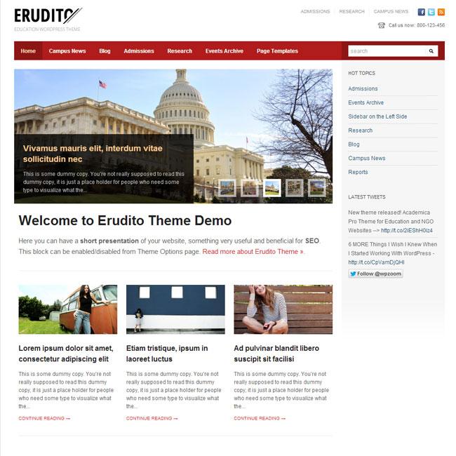 Erudito WordPress Theme By WPZoom