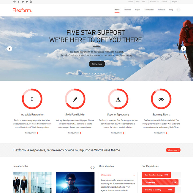 Flexform – Multi-Purpose WordPress Theme