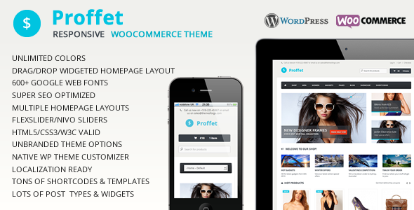 Proffet - Responsive eCommerce WordPress Theme