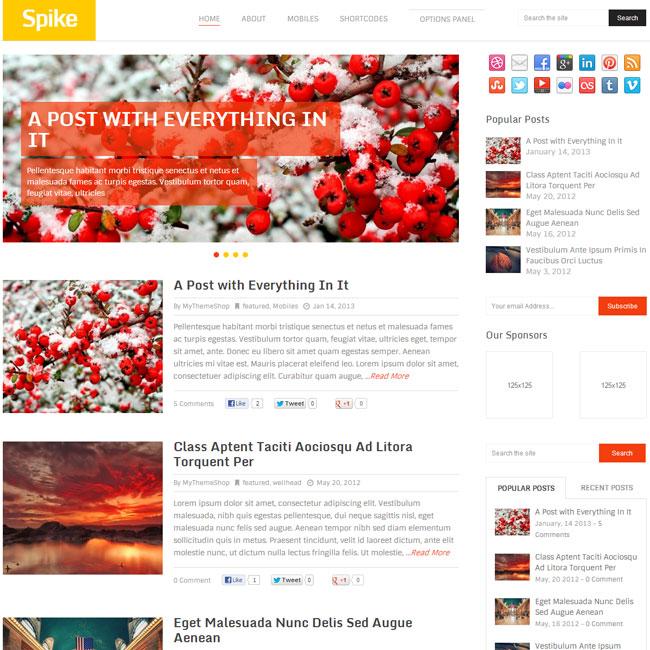 Spike WordPress Theme by MyThemeShop