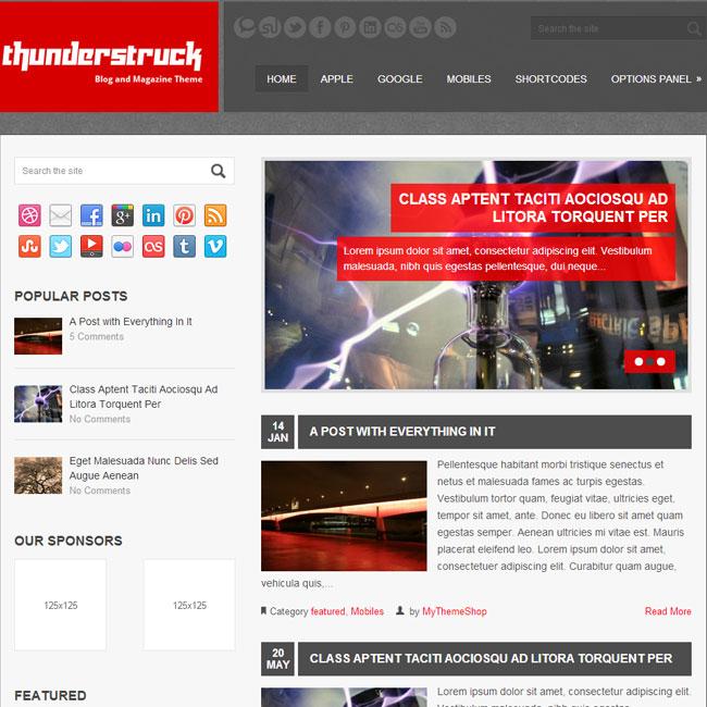 Thunderstruck – Premium WordPress Theme