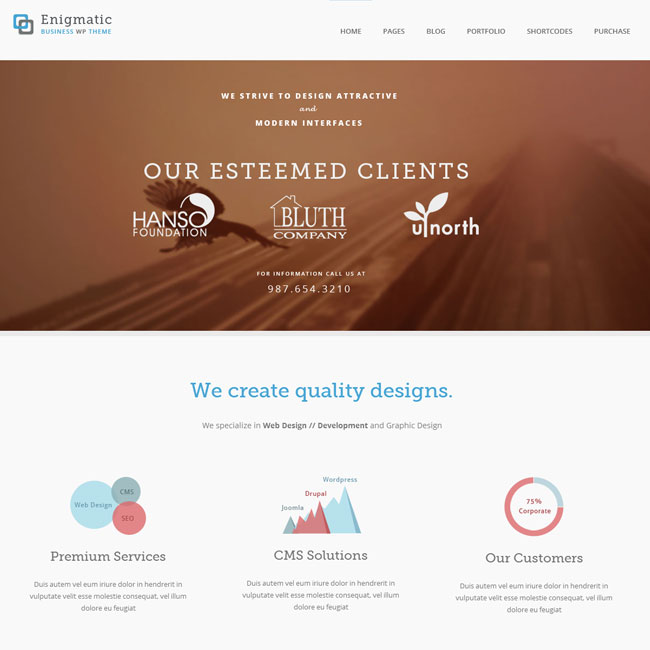 Enigmatic Responsive WordPress Theme