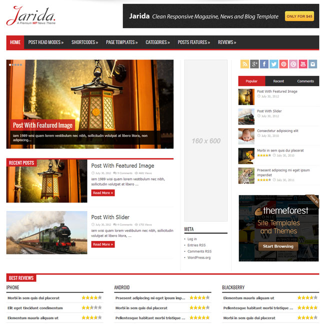 Jarida Magazine WordPress Theme