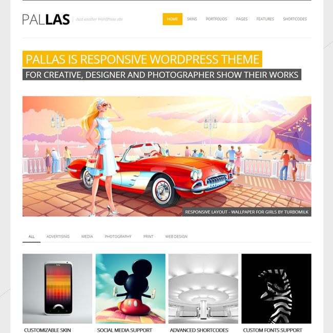 Pallas Portfolio WordPress Theme