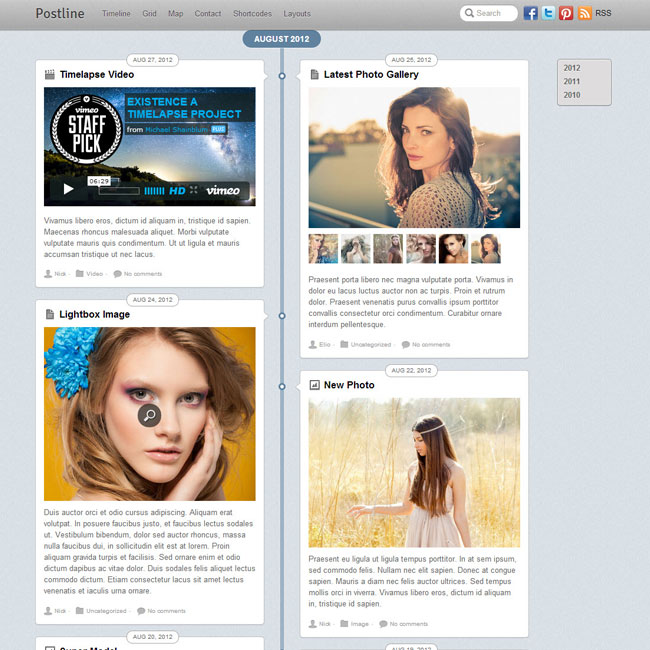 Postline WP Theme – Inspired by Facebook Timeline