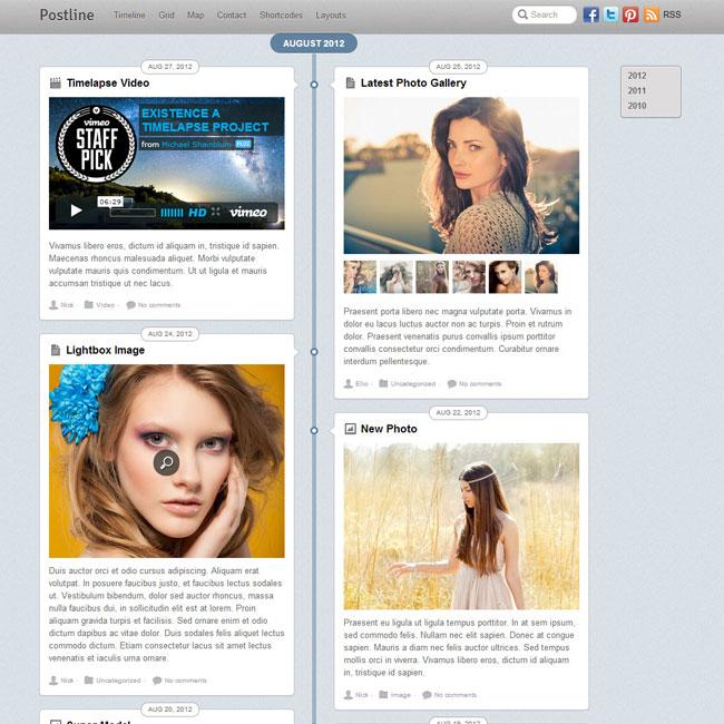 Postline WP Theme – Inspired by Facebook Timeline