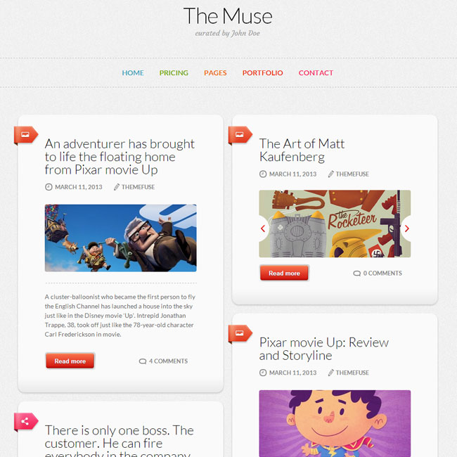 The Muse WordPress Theme by ThemeFuse