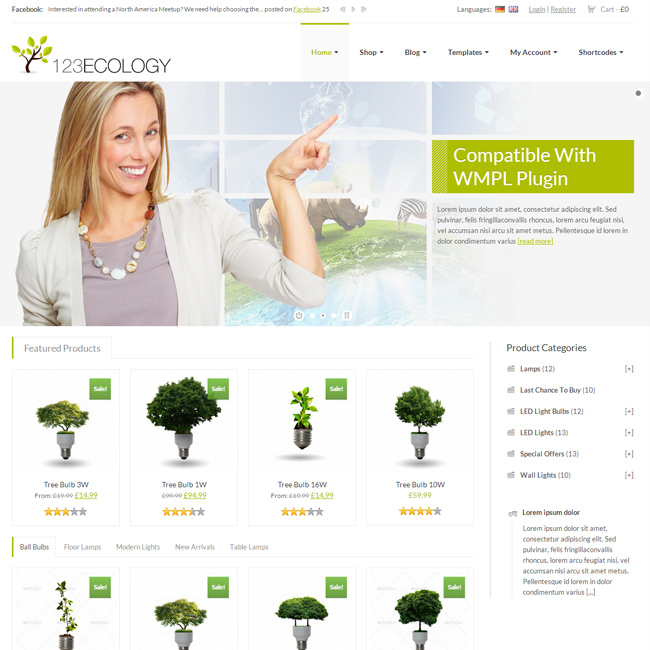 123Ecology eCommerce WordPress theme