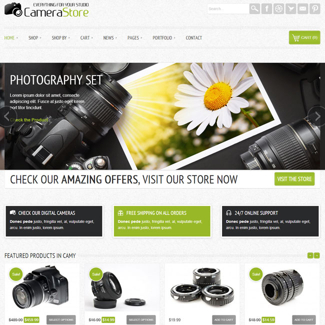 Camy eCommerce WordPress Theme
