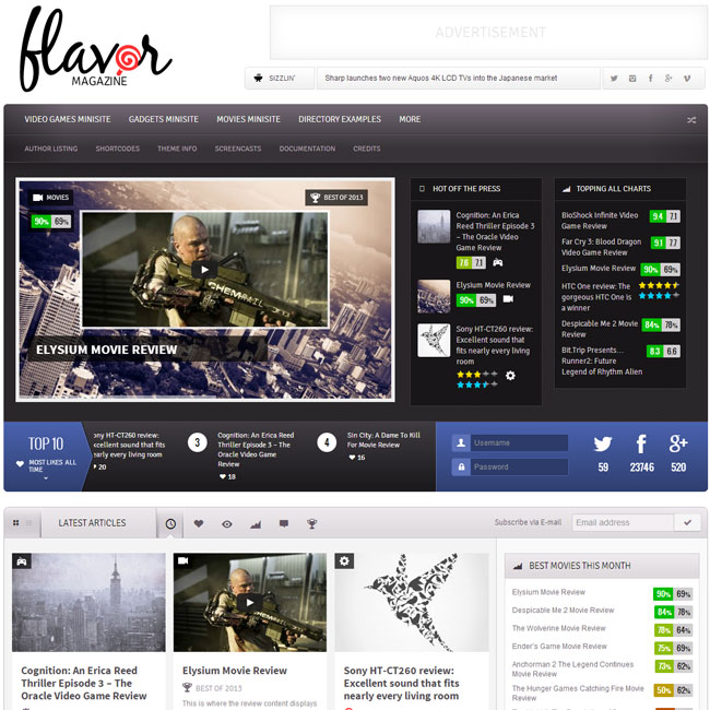 Flavor WordPress Theme – Best for Online Magazine
