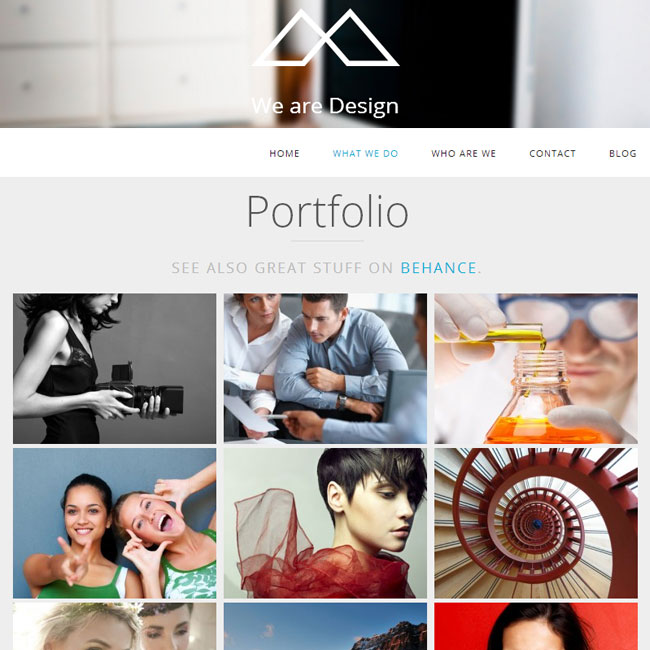 HalfCreative WordPress Theme for Single Page Portfolio
