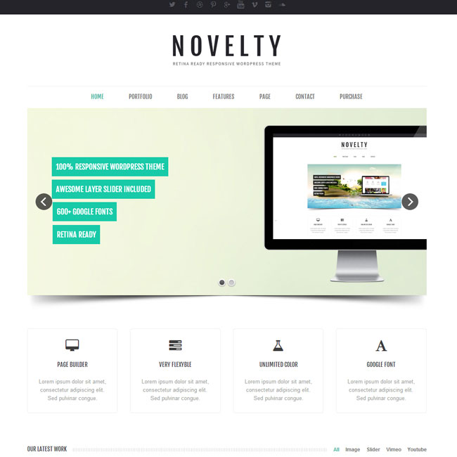 Novelty Responsive WordPress Theme