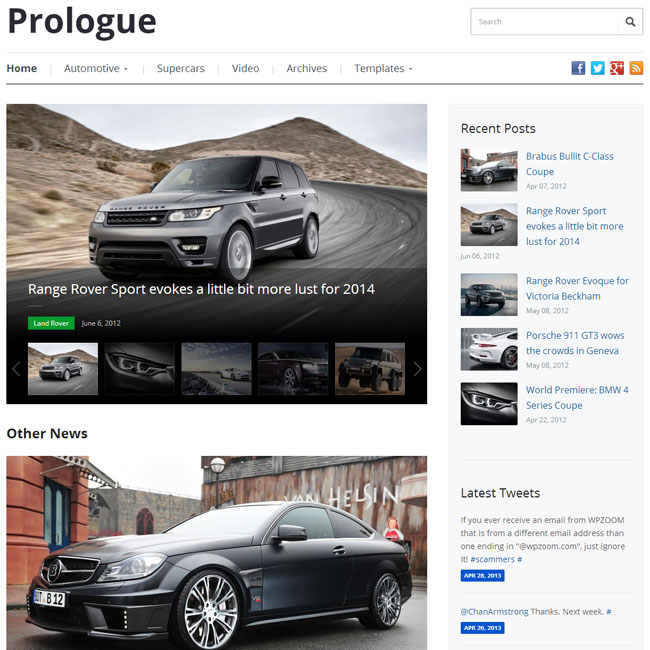 Prologue WordPress Theme by WPZOOM