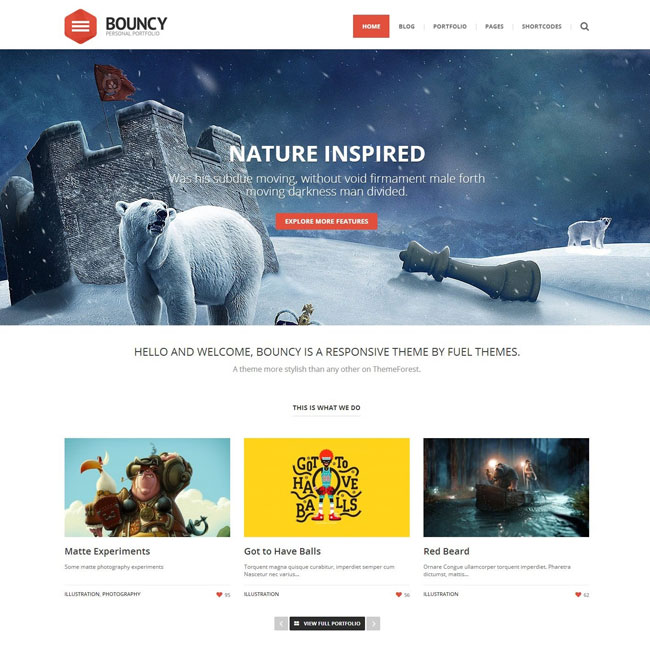 Bouncy WordPress Theme