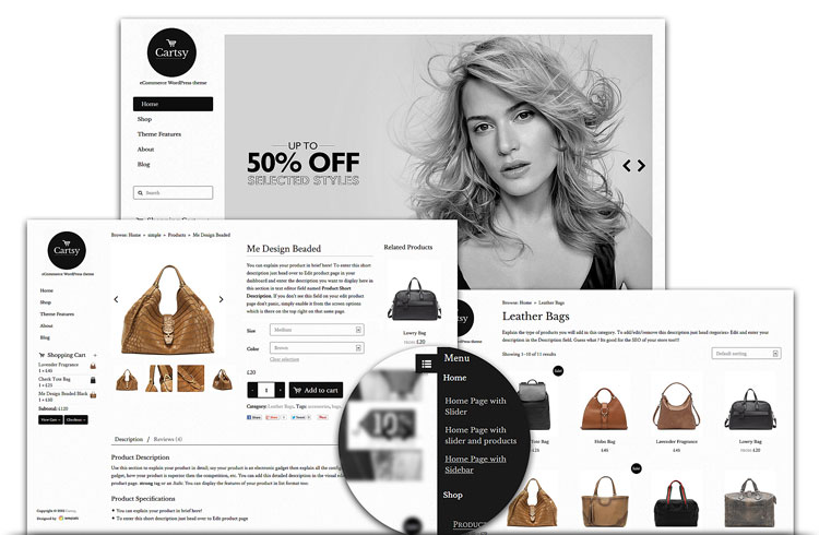 Cartsy WordPress theme