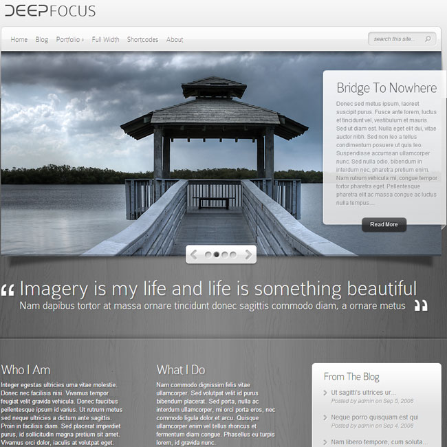 DeepFocus WordPress Theme by ElegantThemes