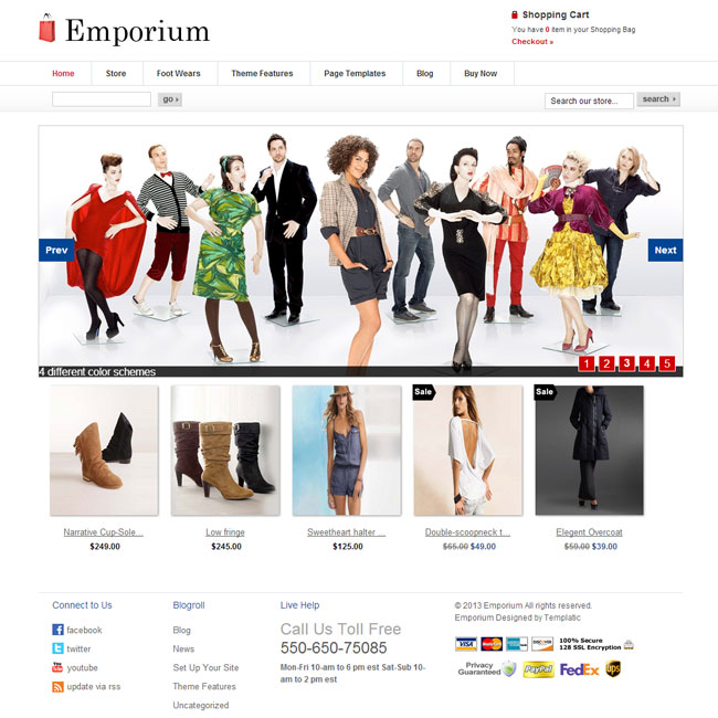 Emporium WordPress theme by Templatic