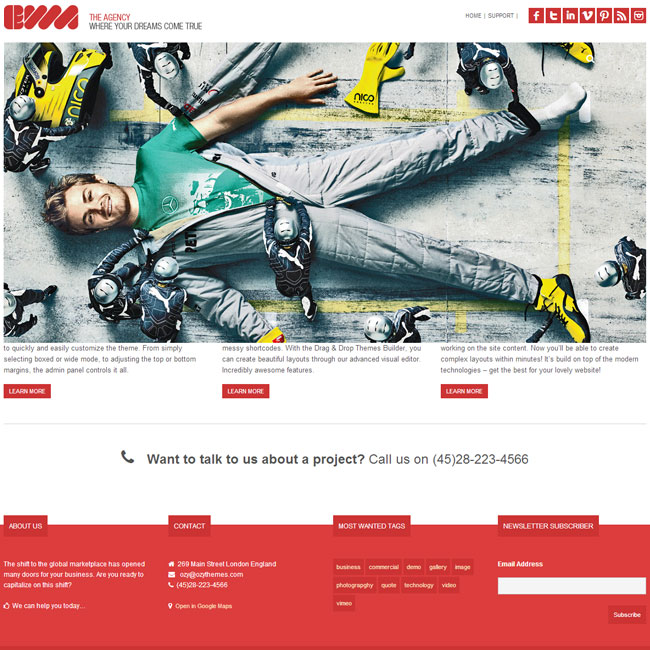 EWA Bootstrap WordPress Theme