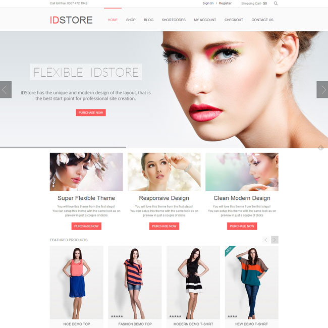 IDStore WordPress Theme for eCommerce Websites