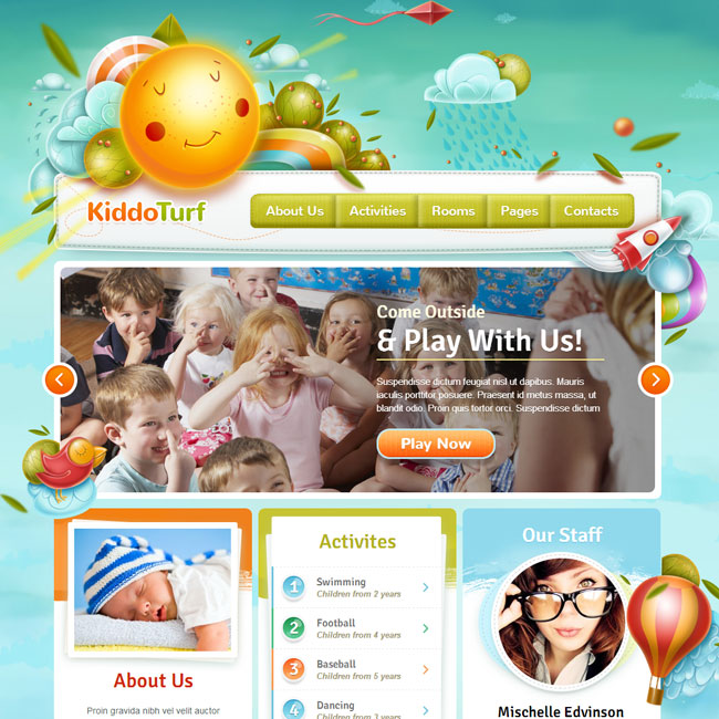 KiddoTurf WordPress Theme for Kids