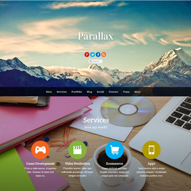 Parallax WordPress Theme by Themify