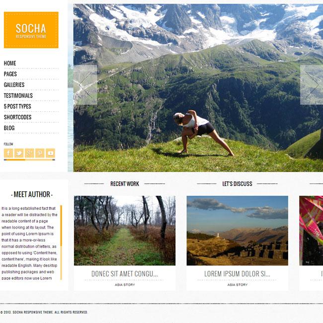 Socha WordPress Theme